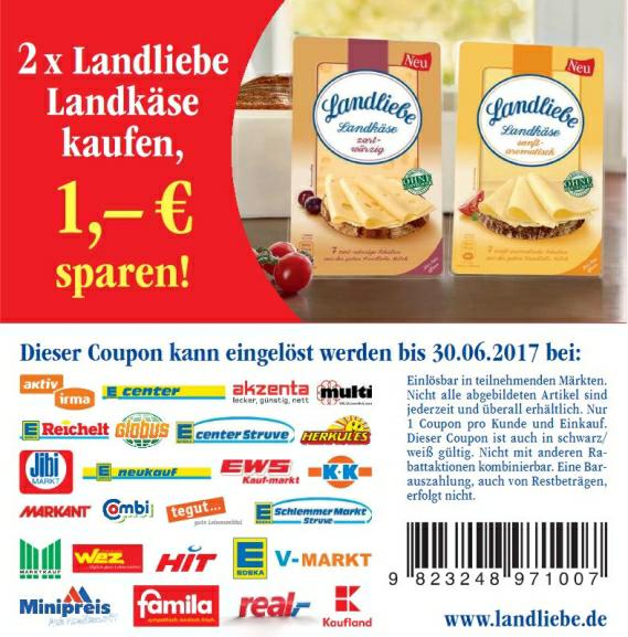 (Marktkauf & EDEKA) 2x Landliebe Landkäse für 2,18 €