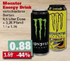 Monster Energy lokal bei Edeka in Weiden i.d.Opf.