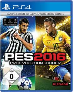 PES 2016 - Pro Evolution Soccer 2016 (PC & PS3 & PS4 Day 1 Edition & Steelbook Anniversary Edition) für je 5€ inkl. VSK & UEFA Euro 2016 (PS3 & PS4) je 5€ ink. VSK (Saturn)