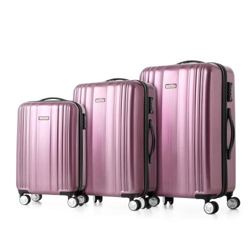 dreiteiliges Kofferset (TSA, Hartschale in pink, rot oder gold) 36 * 22 * 57.5cm, 45.5 * 26 * 67cm, 51 * 30 * 77cm