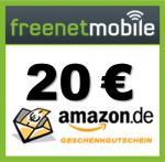freenetMobile SIM für 4,95 EUR + 16 GB USB-Stick ODER 20 EUR Amazon-Gutschein ODER 8 GB SDHC Speicherkarte + 10 EUR Guthaben