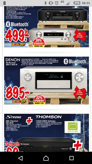 Denon AVR-X4200W für 895, -