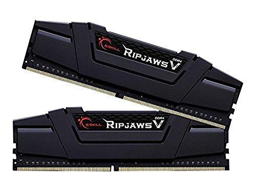 Amazon.de Vorbestellung DDR4 Speicher Gskill F4-3200C16D-32GVKA Memory D4 3200 32GB C16 RipV K2 2x 16GB, 1,35V, RipjawsV schwarz