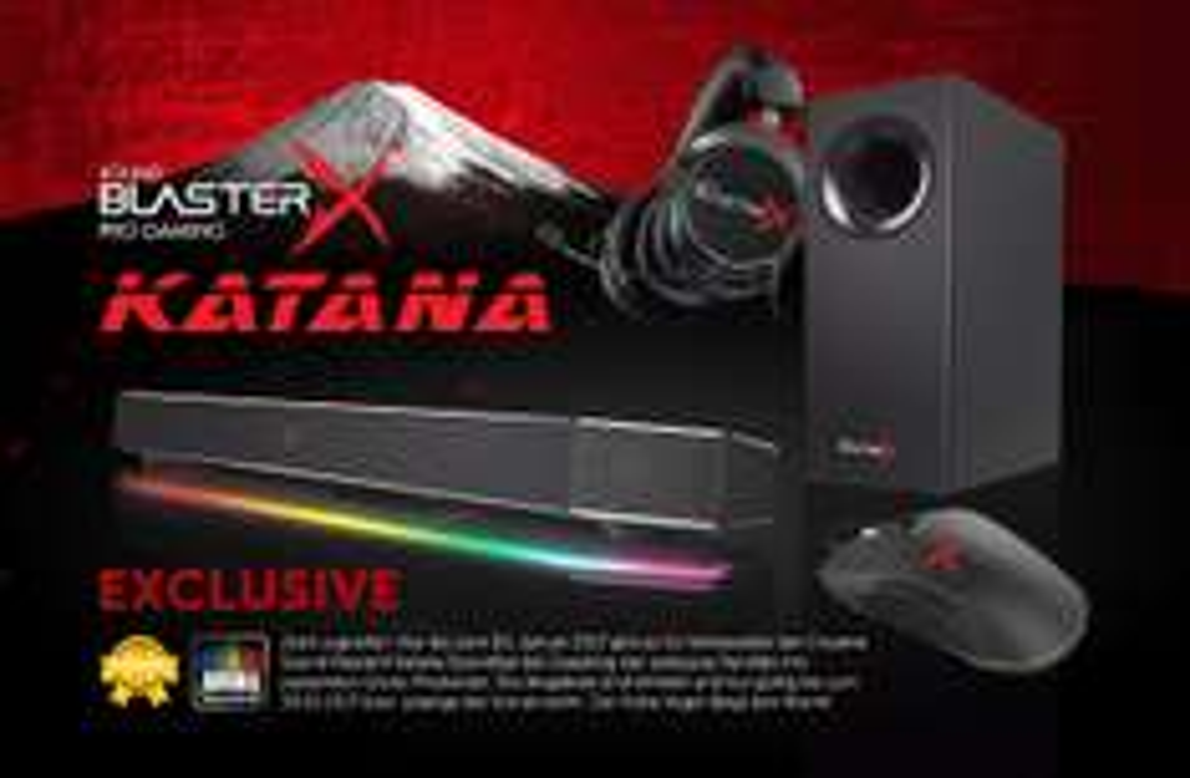 Creative Sound BlasterX Katana Soundbar + Siege M4 Gaming-Maus + Sound BlasterX H5 Gaming-Headset für 305,89€ [Caseking]