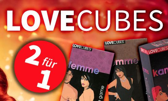 2 für 1 Aktion Love Cubes Spiele [Spiele-Offensive]