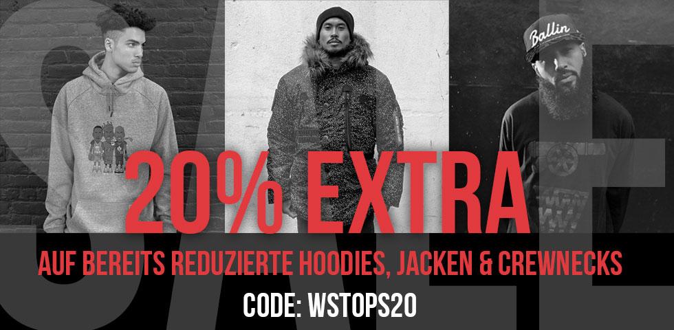 Kickz 20% Rabatt auf bereits reduzierte Hoodies, Jacken und Crewnecks