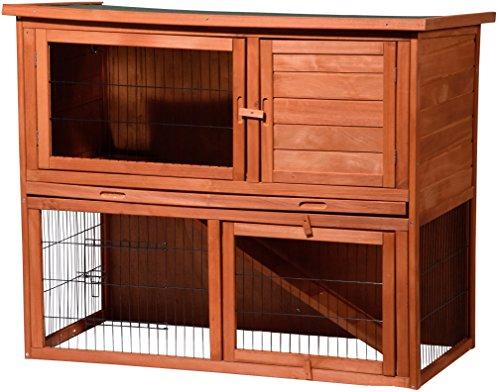 (Bausatz!) Großer Kaninchenstall Inklusive Freilaufgehege, Hasenstall aus wetterfestem FSC Holz, 117 x 66 x 98 cm @Amazon Prime
