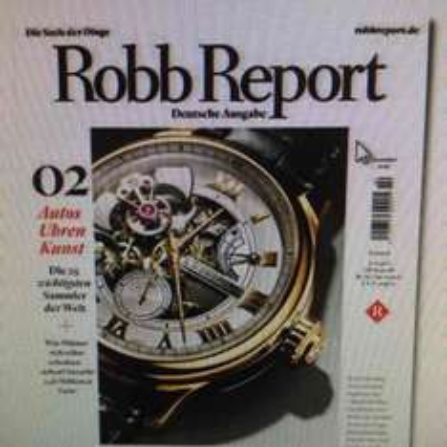 """Kostenlos """"Robb Report"""""""