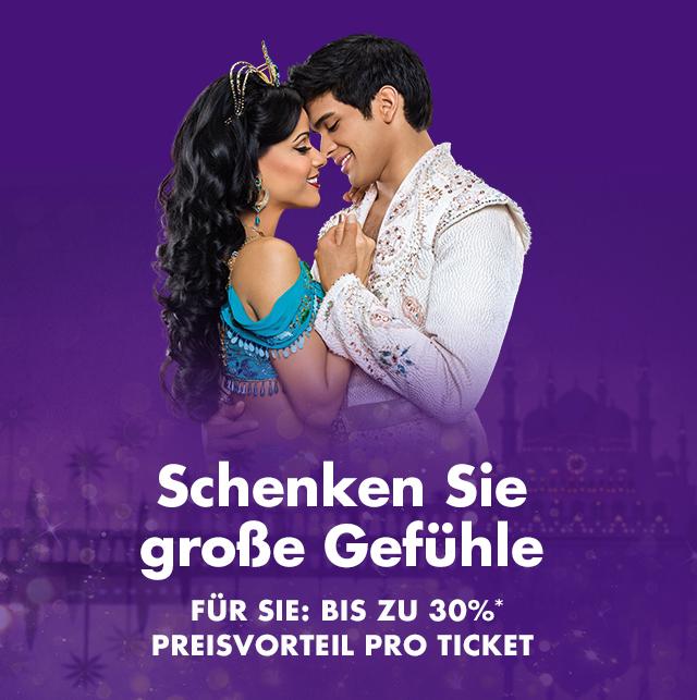 Stage Entertainment: IWNNINY, HiHo, Sister Act Berlin 30%, Aladdin, König der Löwen, Blue Man Group, Mary Poppins 25%  Glöckner 10%