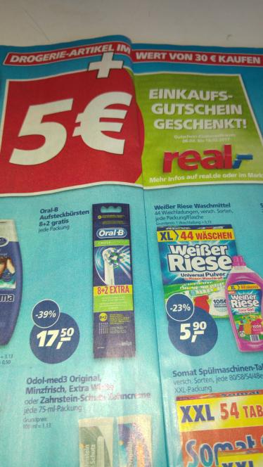 (real,- ab 30.01) Oral-B Aufsteckbürsten 8+2 Gratis