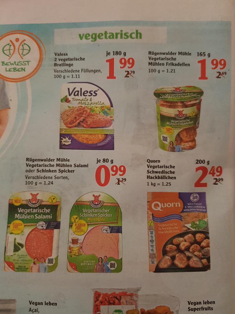 Globus Vegetarisches Angebot