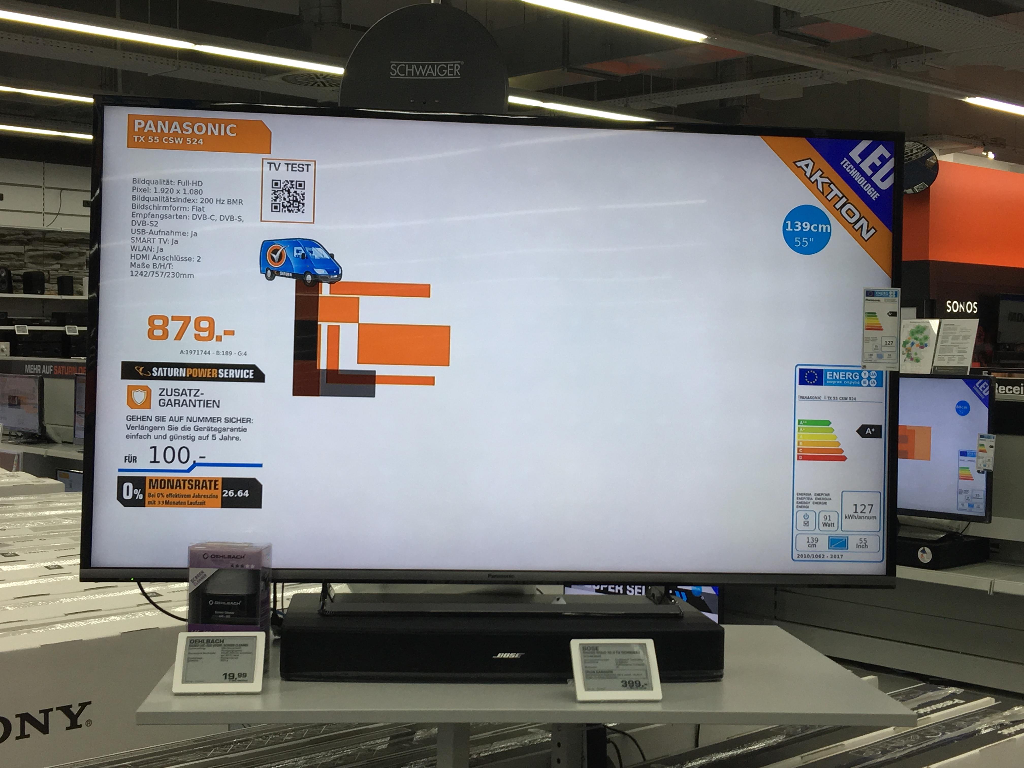 [LOKAL SATURN EUSKIRCHEN] Panasonic TX55CSW524 für 749€