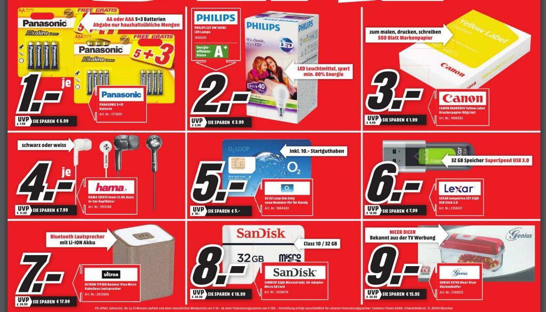 (lokal MM Ludwigshfen-Oggersheim, Mannheim, Worms, Spayer, Neustadt) Panasonic Alkaline Power Batterien AA sowie AAA, 8 Stück pro Packung