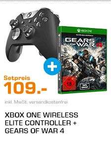 MICROSOFT Xbox One Elite Wireless Controller + Gears of War 4 für 109,-€ Versandkostenfrei [Saturn Super Sunday]