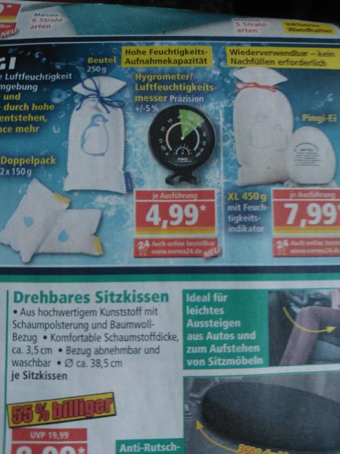 Hygrometer Norma (auch online) 4,99€