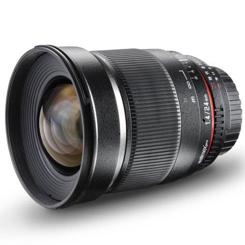 Walimex Pro 24mm 1:1,4 DSLR-Weitwinkelobjektiv (Filtergewinde 77mm, IF, AS und ED-Linsen) für Olympus mit Four Thirds