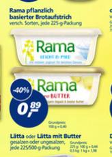 (real,- bundesweit) Rama mit Butter für 0,39 Euro