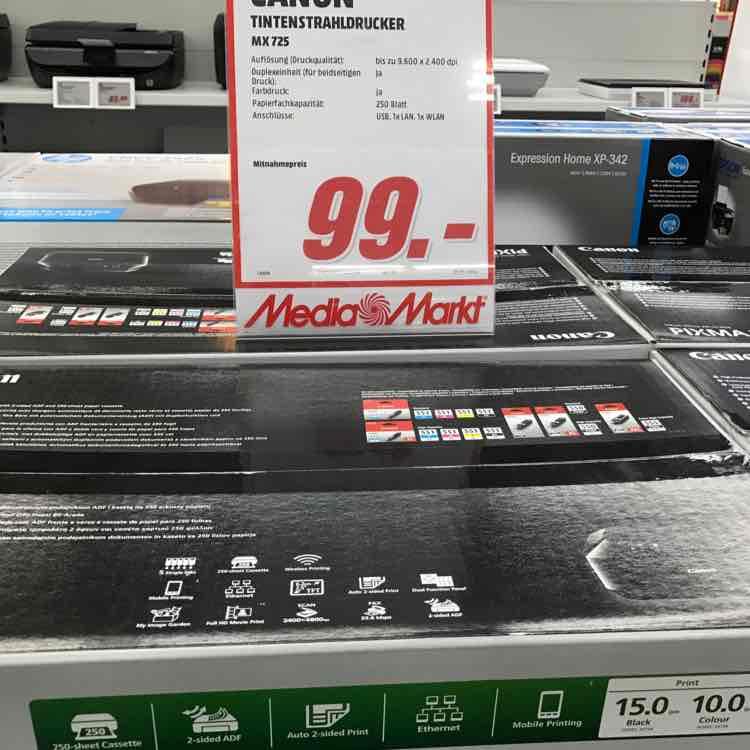 Canon MX725 Multifunktionsgerät 4 in1 99 Euro