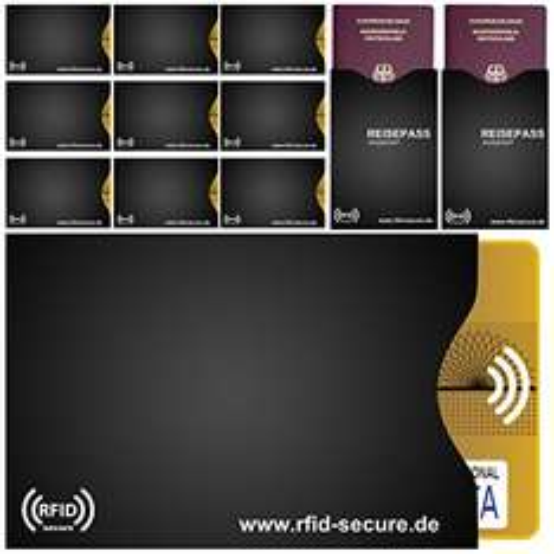 Amazon: -61% RFID & NFC Schutzhüllen 12er Set (für Kreditkarte, EC-Karte und Reisepass) mit Gutschein für nur 9,77 Euro statt 24,95 Euro