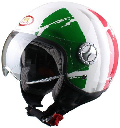 [amazon.de] BHR Helm Demi-Jet, Italienische Flagge (M) - Blitzangebot