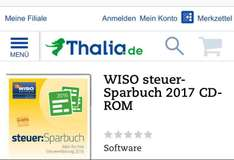 (Thalia) WISO Steuer-Sparbuch 2017 CD-Rom