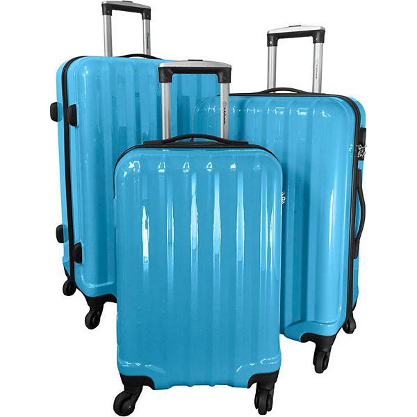 plus.de - Polycarbonat-ABS-Kofferset Miami 3-teilig verschiedene Farben