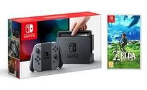 Nintendo Switch Bundle (grau) mit The Legend of Zelda Breath of the Wild bei Amazon.fr für 353,48€ (vorher 363,38€) vorbestellen