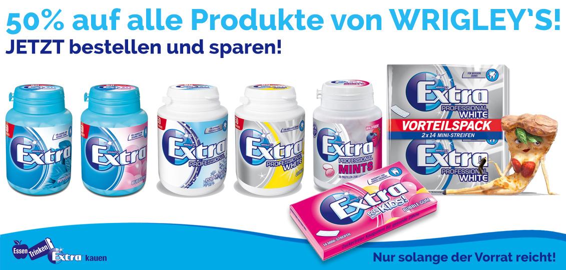 [MARS Online-Shop] 50% Rabatt auf alle Produkte von Wrigley's!