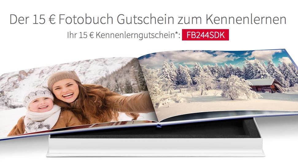 Günstige Fotobücher mit 15€ Kennenlerngutschein ab 24,95€ MBW bei Saal digital