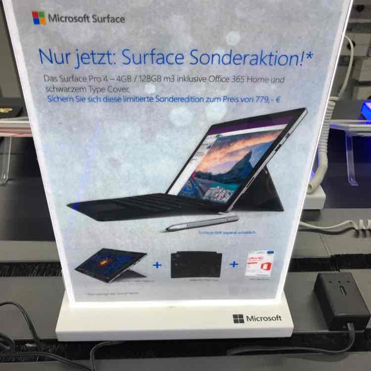 [Lokal] Surface Pro 4 m3 128 GB mit Typecover und Office - Mediamarkt Dresden Centrum Galerie