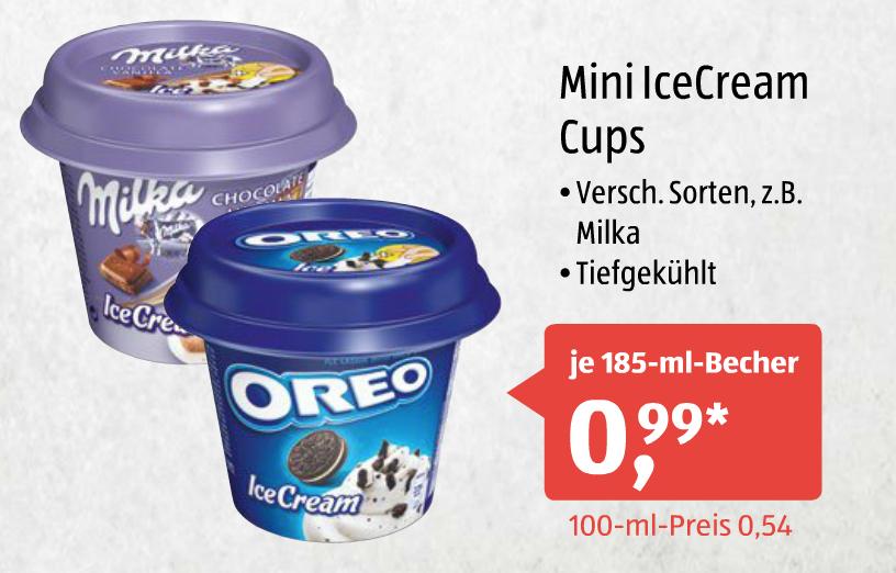 [Aldi-Süd] Mini IceCream Cups Oreo, Milka und evtl. andere Sorten je 185ml für 0,99€ am 04.02.2017