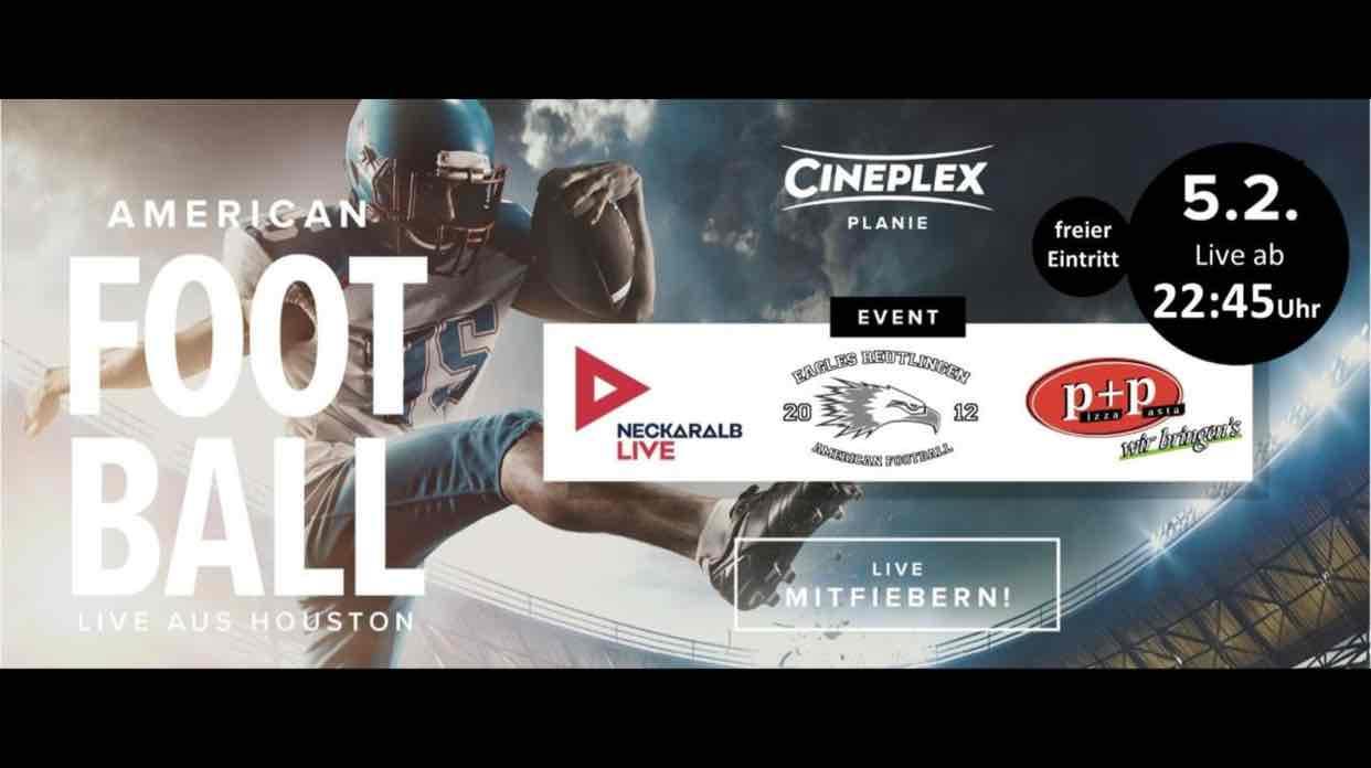 Auch in Reutlingen:NFL Finale im Kino
