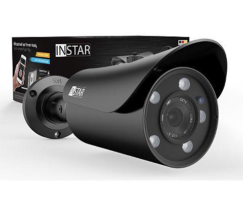 INSTAR IN-5905HD Wlan IP Kamera / Sicherheitskamera für Außen / HD Überwachungskamera / Outdoor (5 Leistungsstarke IR LEDs, Infrarot Nachtsicht, Weitwinkel, wetterfest, SD Karte, Bewegungserkennung, Aufnahme, WDR) Schwarz & Weiß [GartenXXL]