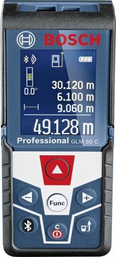 Bosch GLM 50C Entfernungsmessgerät (Reichweite 50m, ISO-Zertifikat, Bluetooth)
