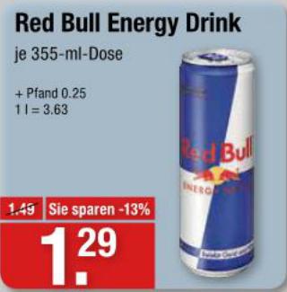 [Lokal V-Markt] Red Bull 0,355 L Dose (Offline)