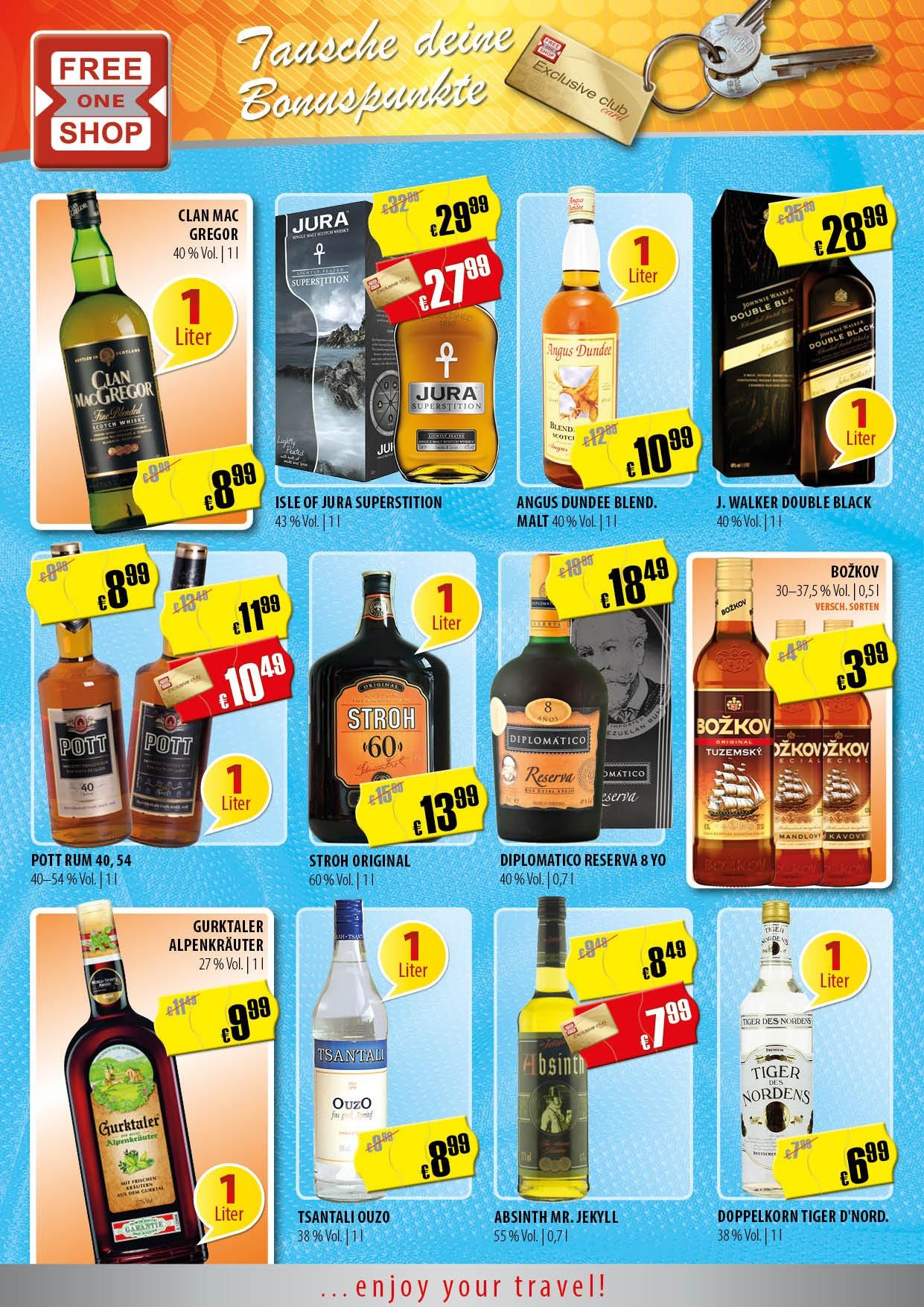 Whisky - Brandy - Rum (Grenzgänger CZ FreeOneShop) u.a. Isle of Jura Superstition 29,99