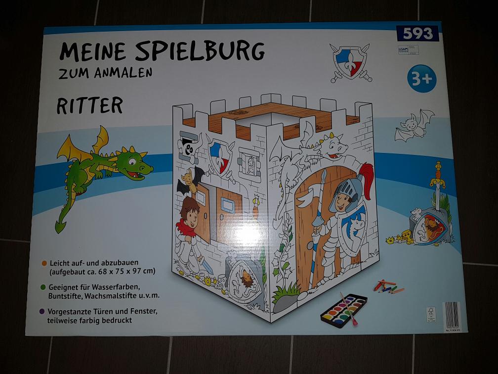 spielhaus aus pappe/karton  (aldi nord)