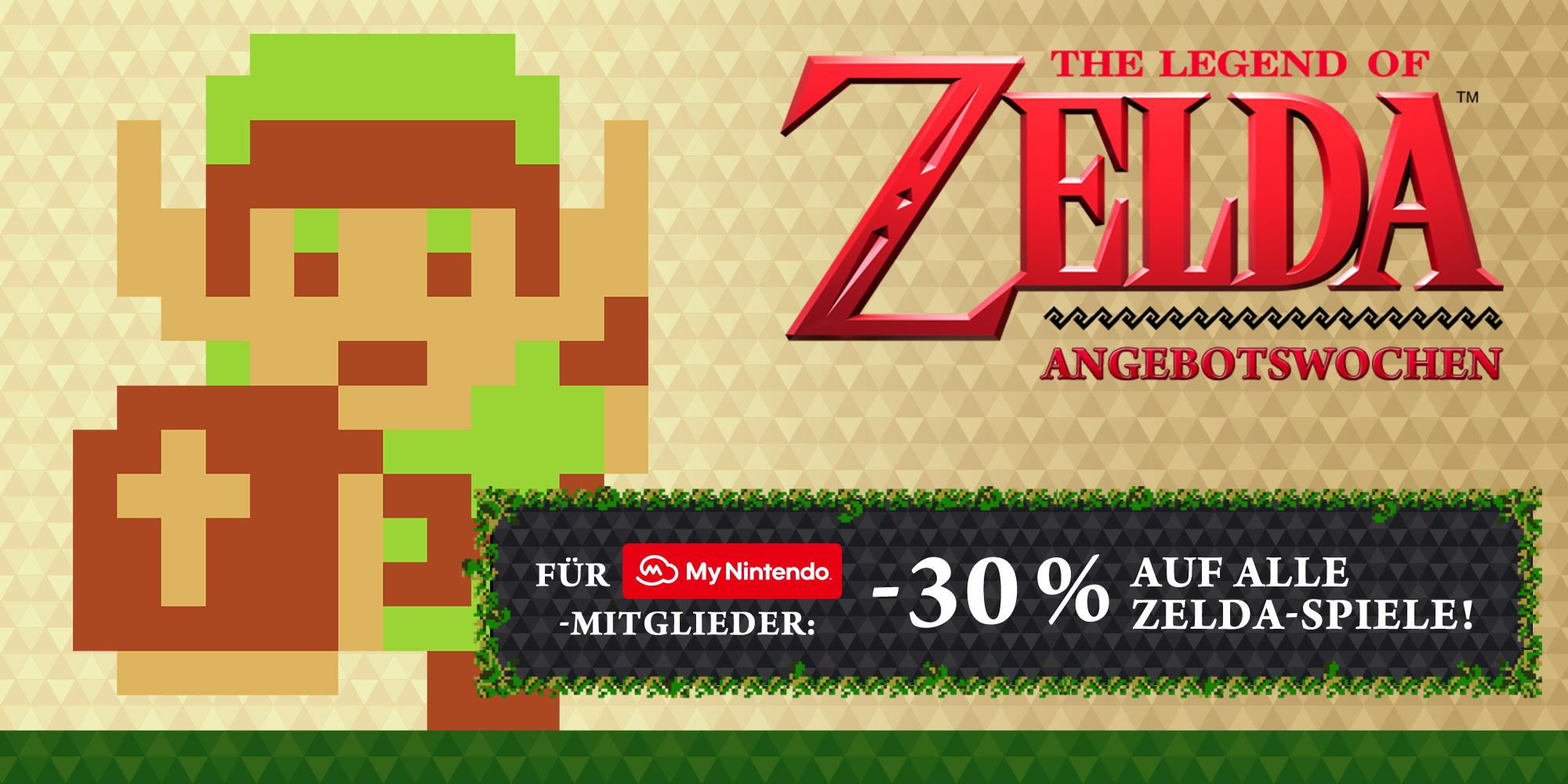 Alle Zelda Titel ab morgen (26.01.) im Nintendo eShop Angebot