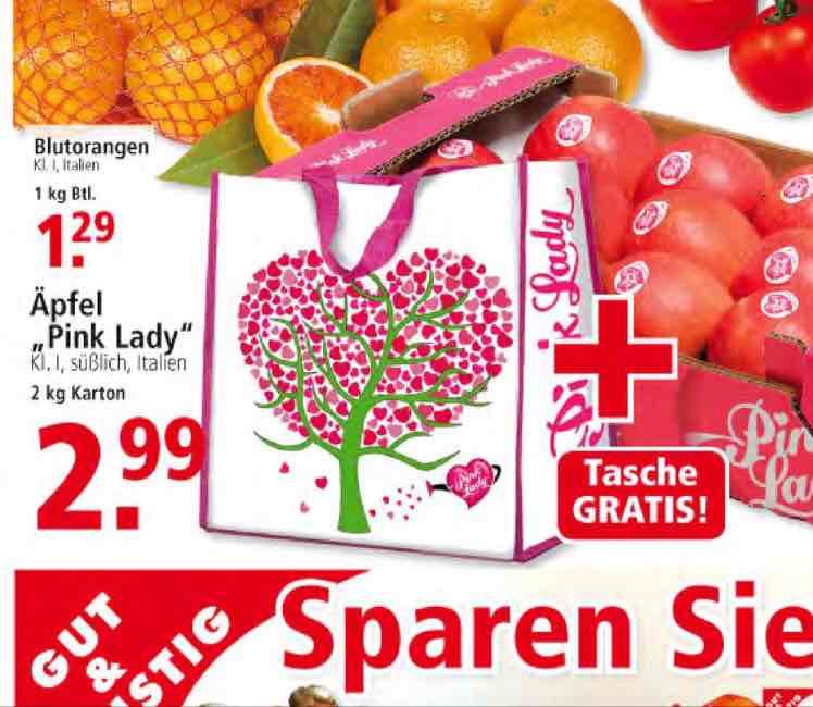 [Leer] Multi Pink Lady 2kg Karton + Gratis Tasche für 2,99€