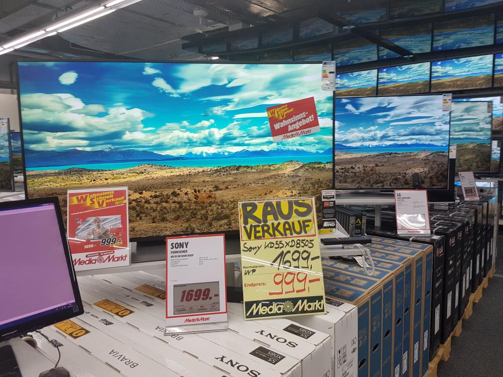 Eventuell nur lokal - Media Markt Kempten - Sony KD-55XD8505