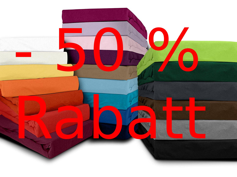 Bis zu - 50% Rabatt  auf das Spannbetttuch