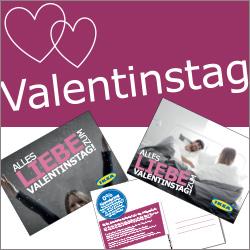 Kostenloser Valentinspostkarte (mit Briefmarke) mit einem Gutschein für ein kostenloses FRUKOST Frühstück bei IKEA Dresden Doppelfreebie