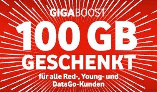 100GB Datenvolumen für Vodafone Vertragskunden (1 Monat & einmalig) *UPDATE*
