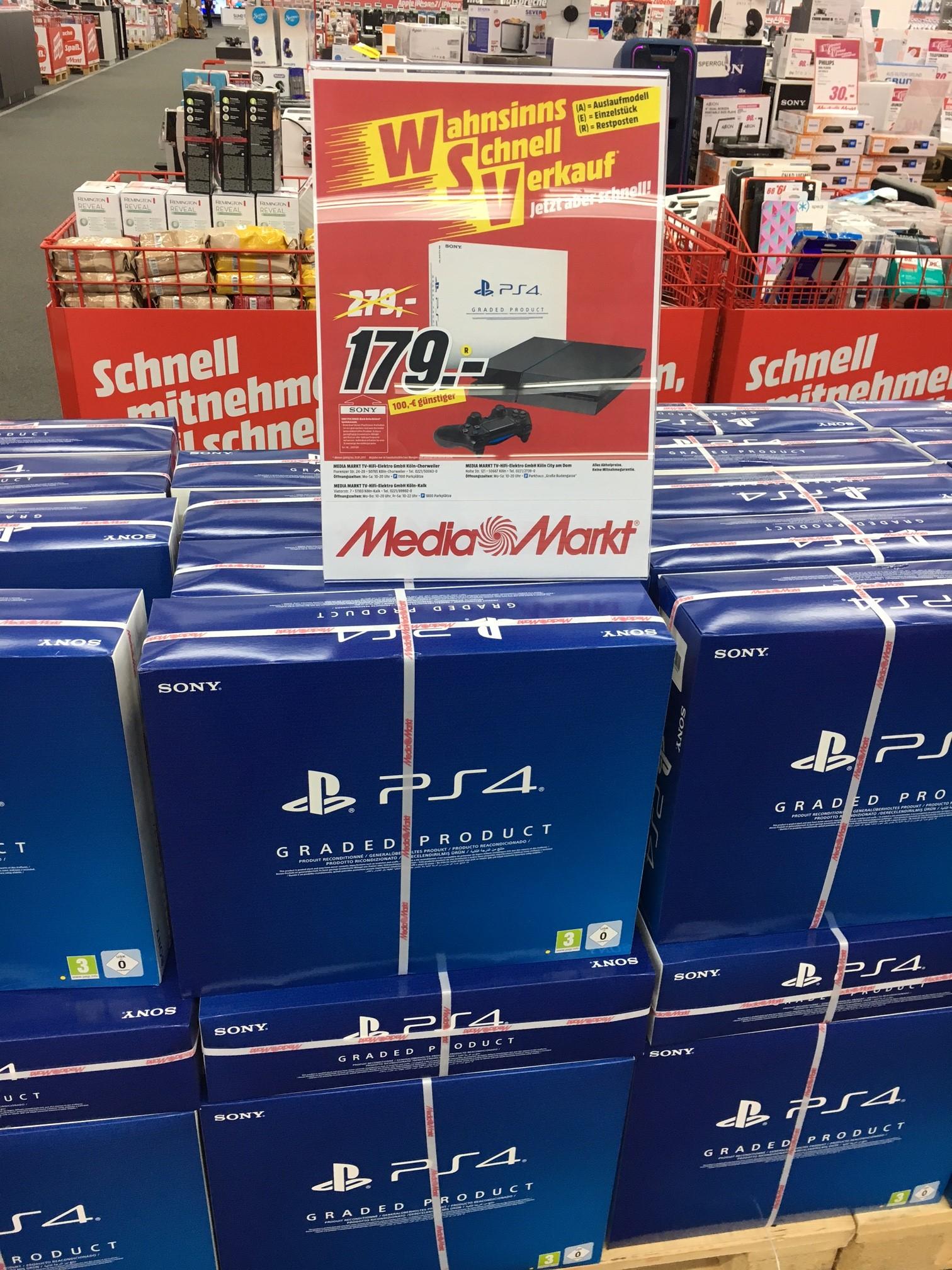 Sony PS4 500 GB Refurbished Media Markt Köln Chorweiler