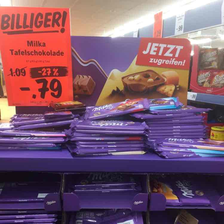 Milka Schokolade im Lidl alle Sorten PLZ 06132