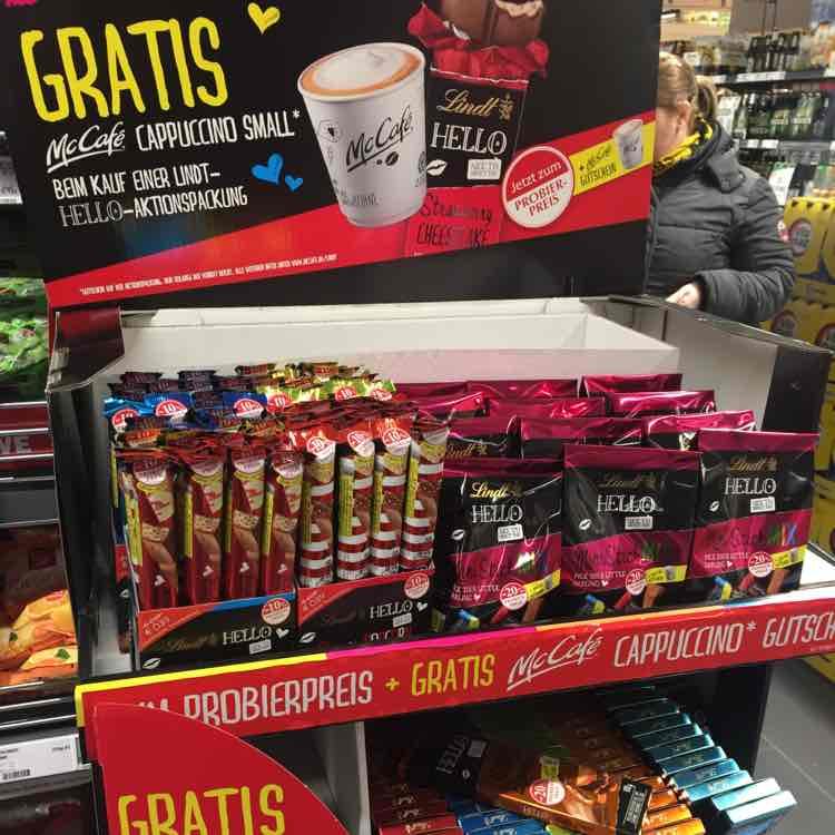Hello Lindt Schokolade + Mc Cafe Cappuccino small ab 0,89€