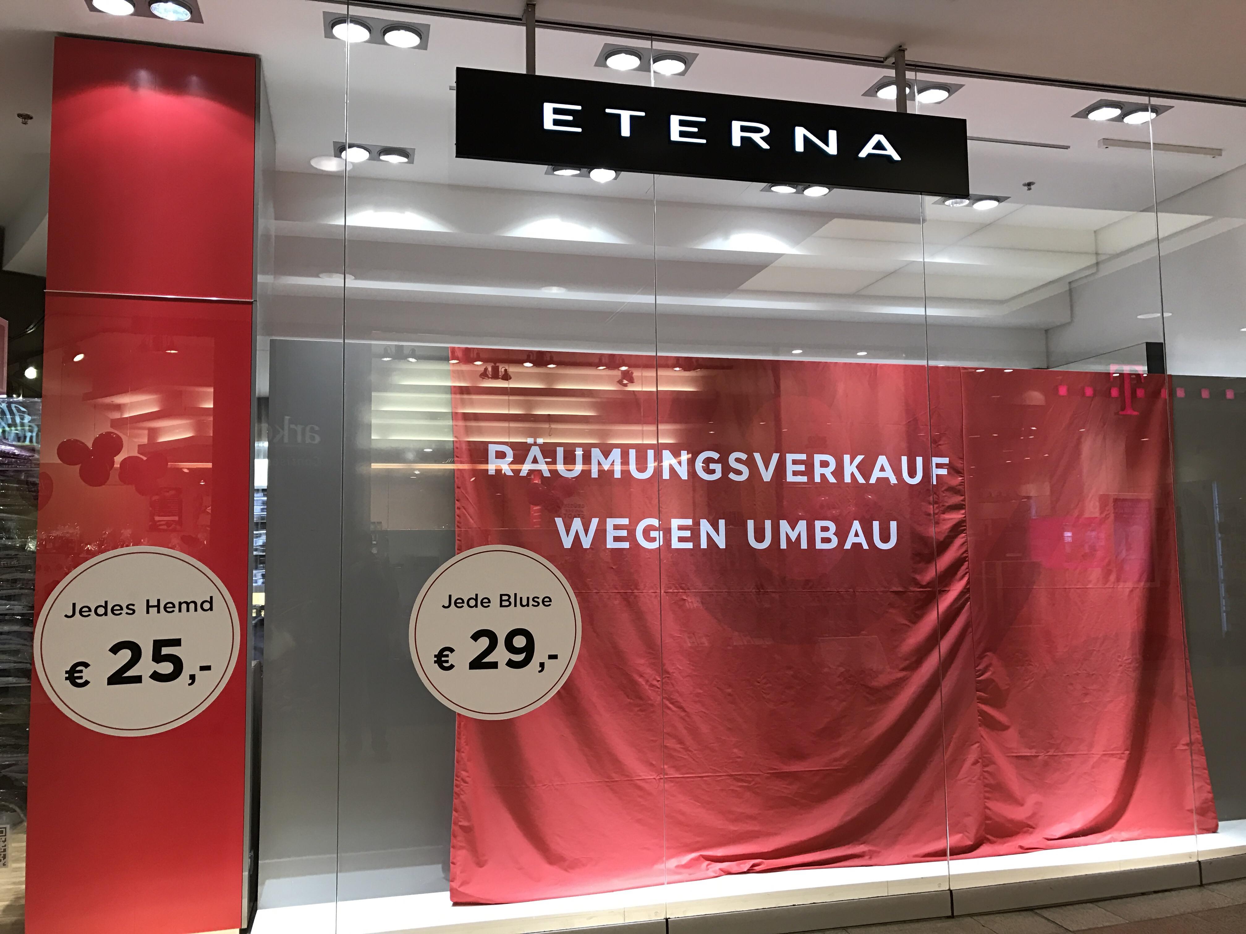 (Lokal) ETERNA - Braunschweig Schloss Arkaden - jedes Hemd & jede Bluse 25€