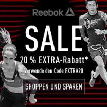 20% Rabatt on top auf den gesamten Sale + gratis Versand bei Reebok