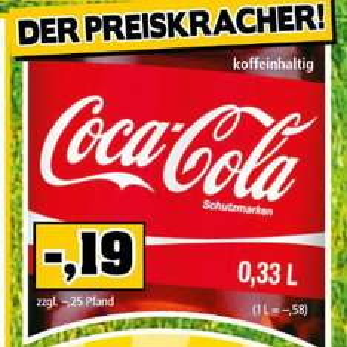 Coca bei Thomas 0,33l ab 30.01.17 für nur 0,19€ zzgl. Pfand