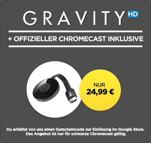 Chromecast 2 mit Gravity (HD) bei Wuaki!